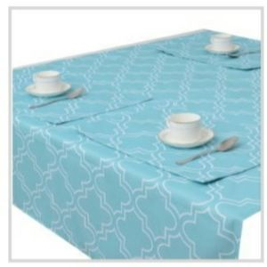 Moroccan Print Bundle Table Cloth & Placemats